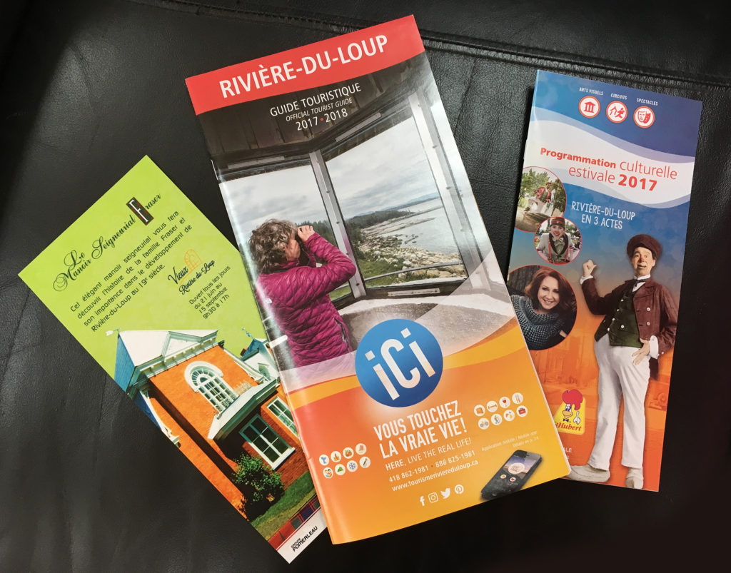 Brochures publicitaires du web à l'imprimé